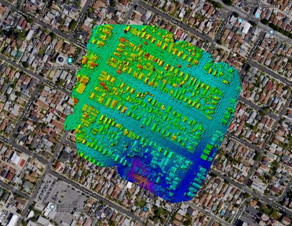 Figure 1-2: Boyle Heights Infrared Heat signature map