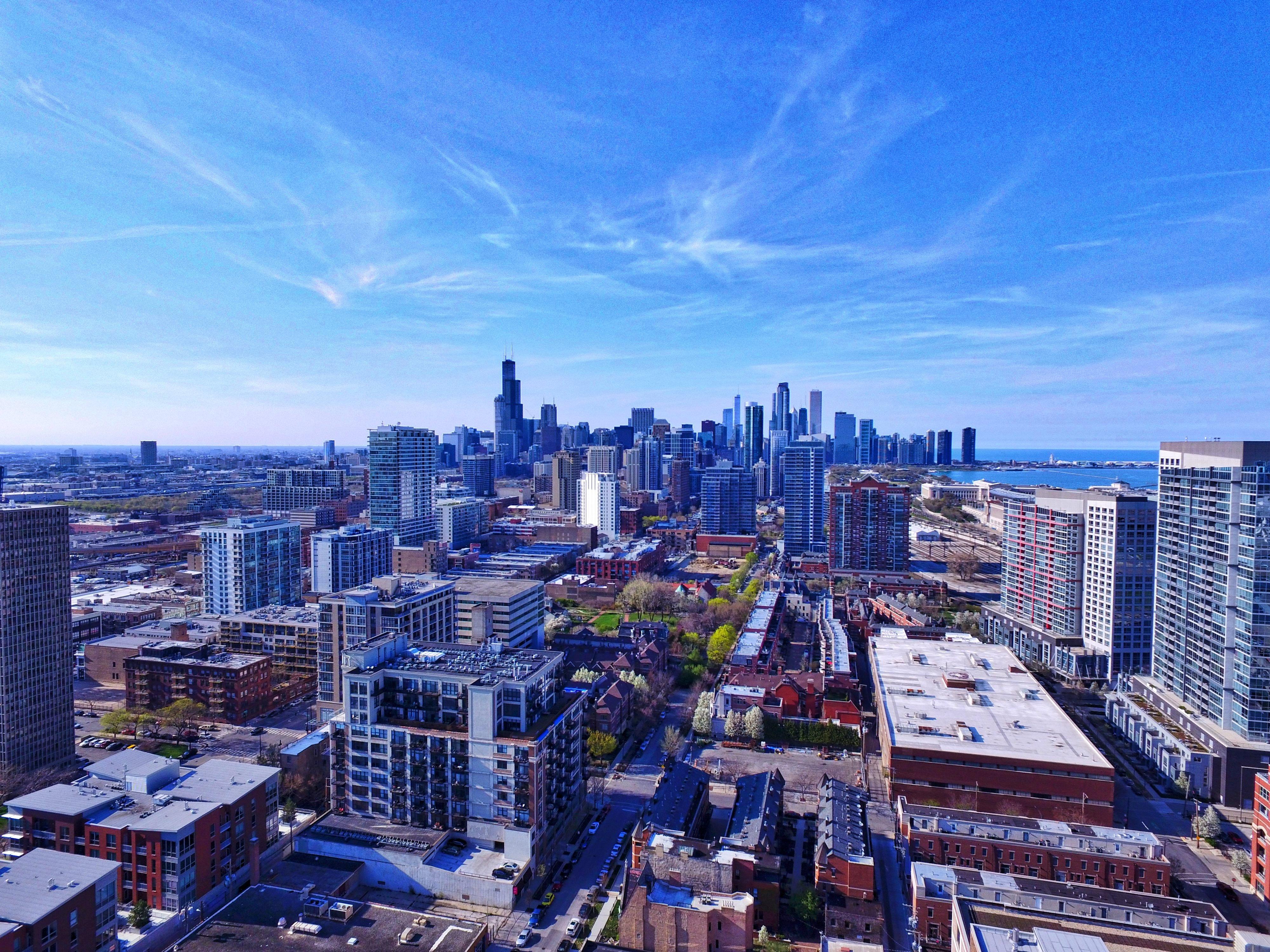 Skyline aerial image