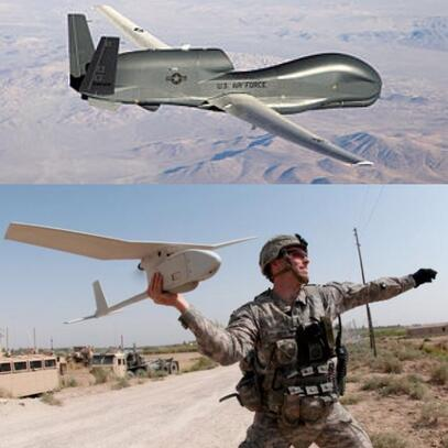 Military Drones: Northrop Grumman's Global Hawk vs Aerovironment's Raven