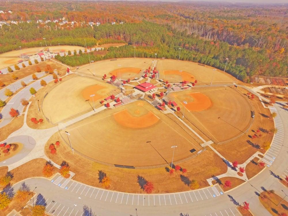 Autumn drone image