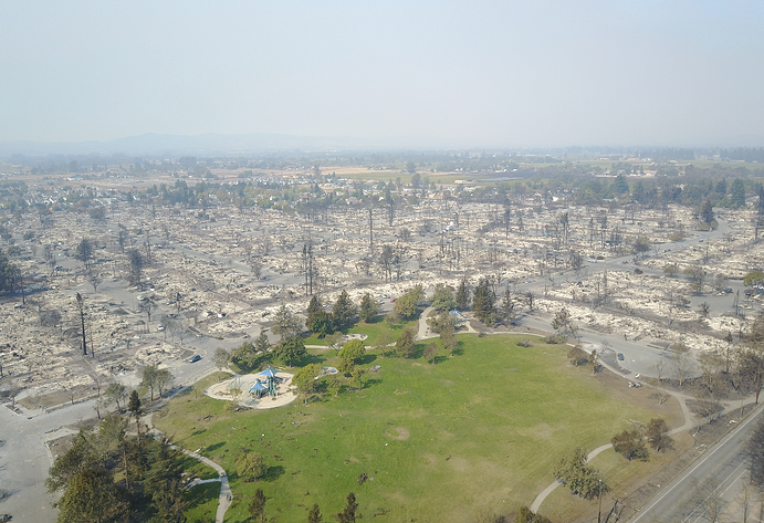 Drone Coverage of California Fires By DroneBase